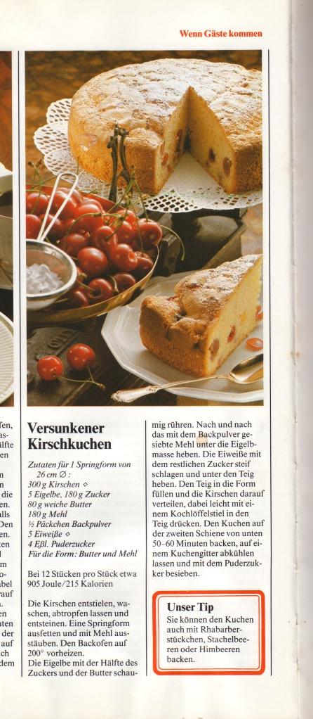 Versunkener Kirschtorte: Sunken Cherry Cake
